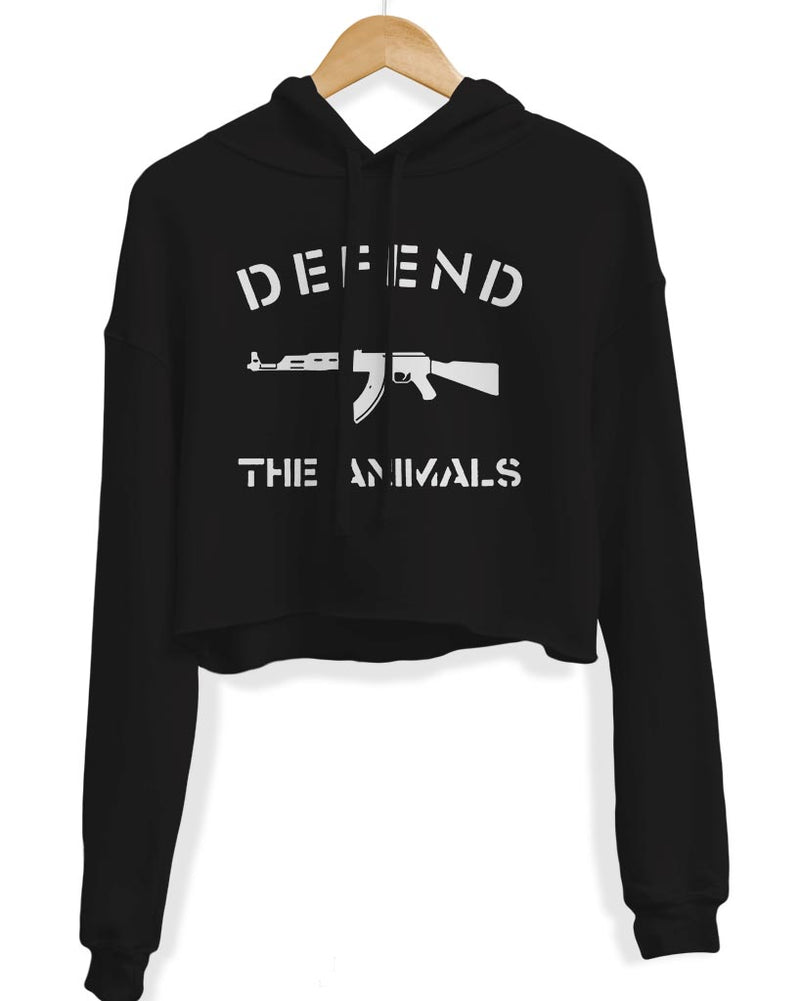 Women's | Defend The Animals | Crop Hoodie