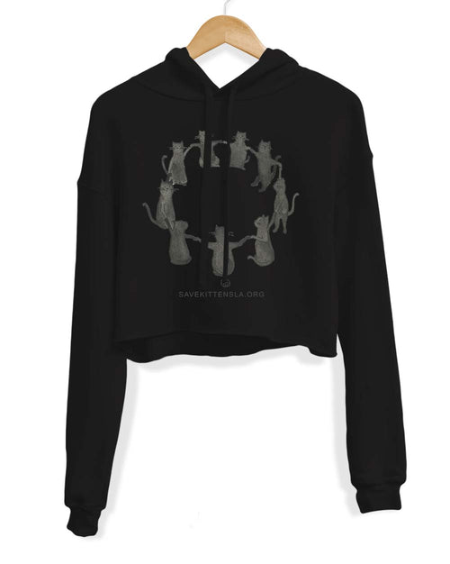 Women's | Kitty Coven  | Crop Hoodie