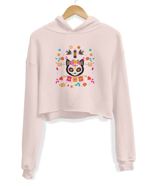 Women's | Spirit Cat | Crop Hoodie