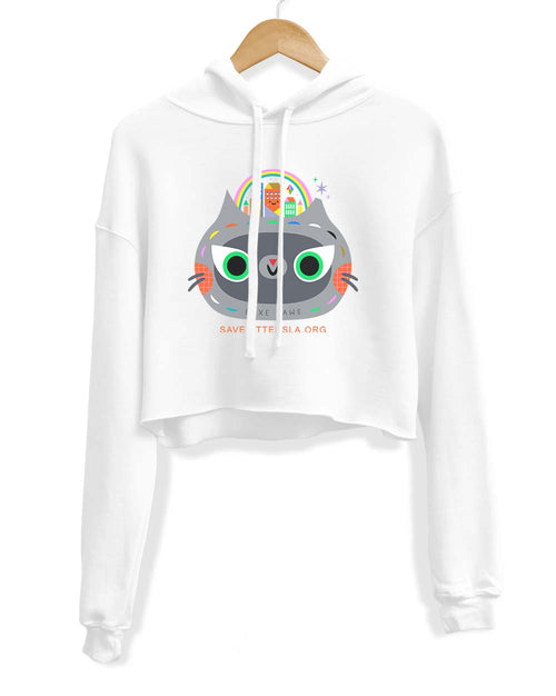 Women's | Kitty City | Crop Hoodie