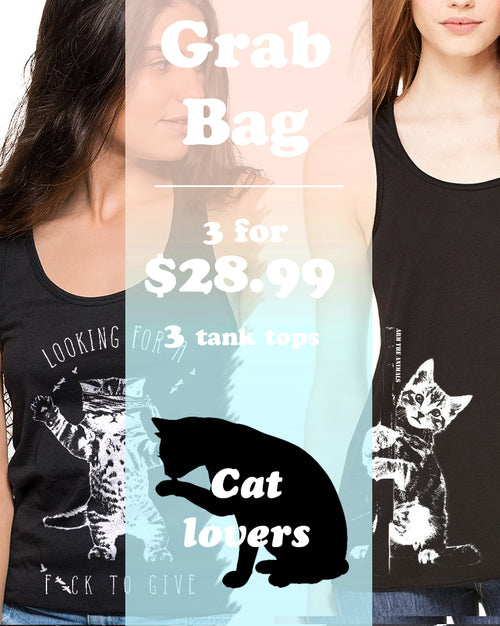 Women's | ATA Cat Ideal Tank Top | Grab Bag