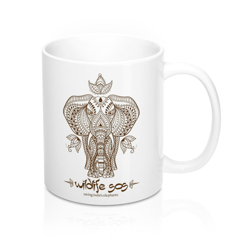Accessory | WLSOS Henna Elephant | Coffee Mug