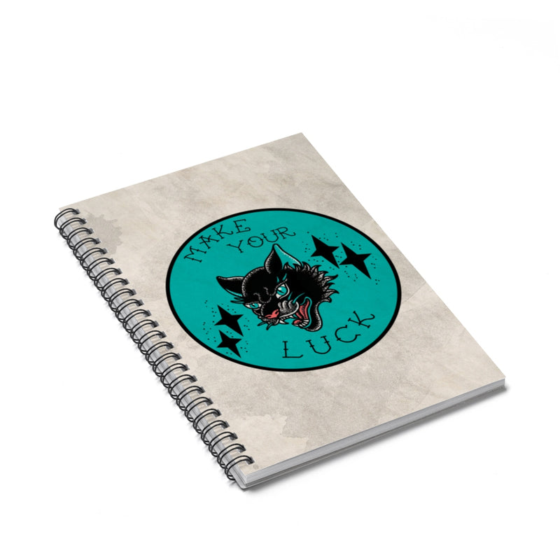 Accessory | Make Your Luck | Spiral Notebook - Ruled Line