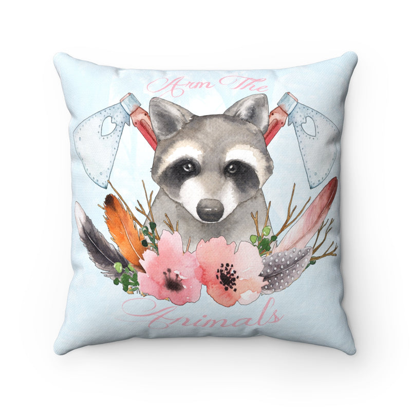 Home Goods | Woodland Raccoon | Square Pillow