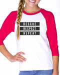 Youth Girls | The 3 Rs | Raglan