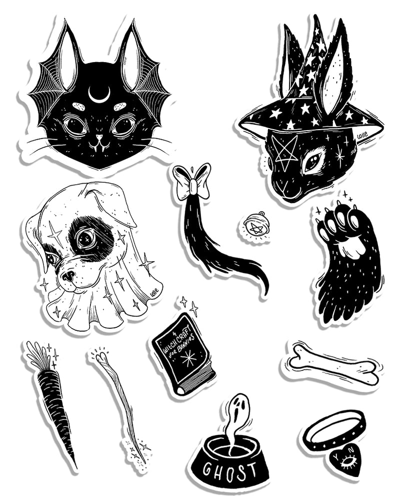 Stickers | Coven Series | Die Cut Sticker Set (12)