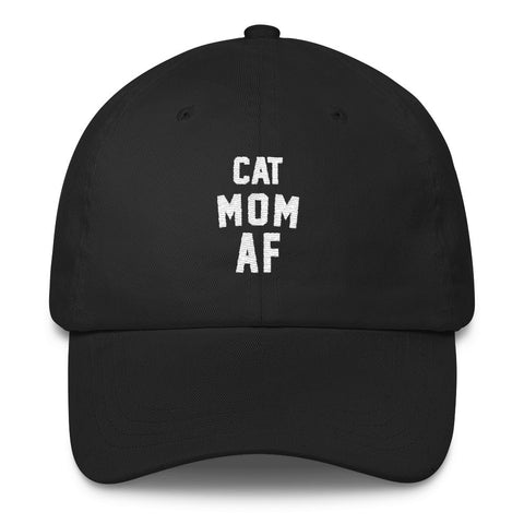 Accessory | Cat Mom AF | Classic Dad Cap