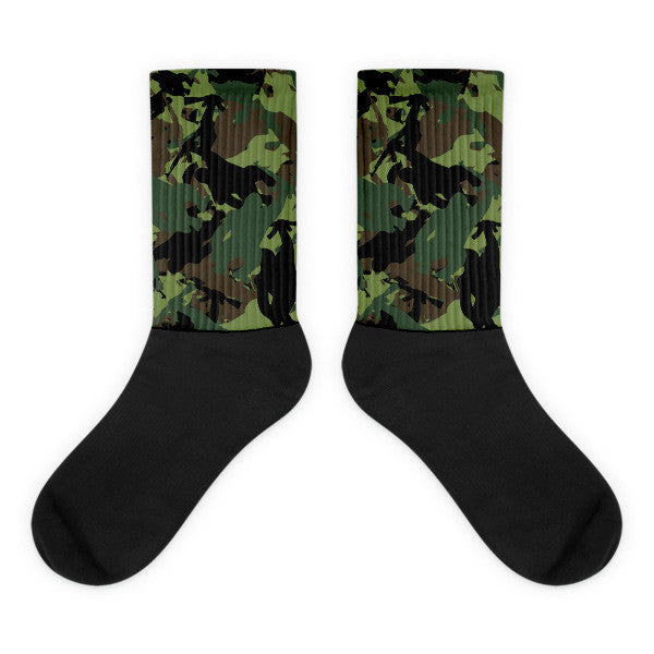Socks | Camo Gorilla Logo | Athletic Socks