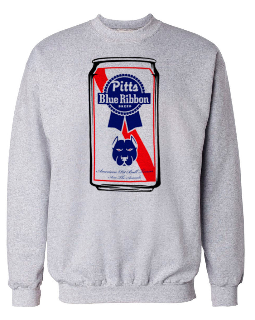 Mens Pitts Blue Ribbon Crewneck Sweatshirt Arm The Animals