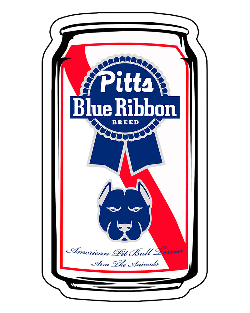 Stickers | Pitts Blue Ribbon | Die Cut Sticker