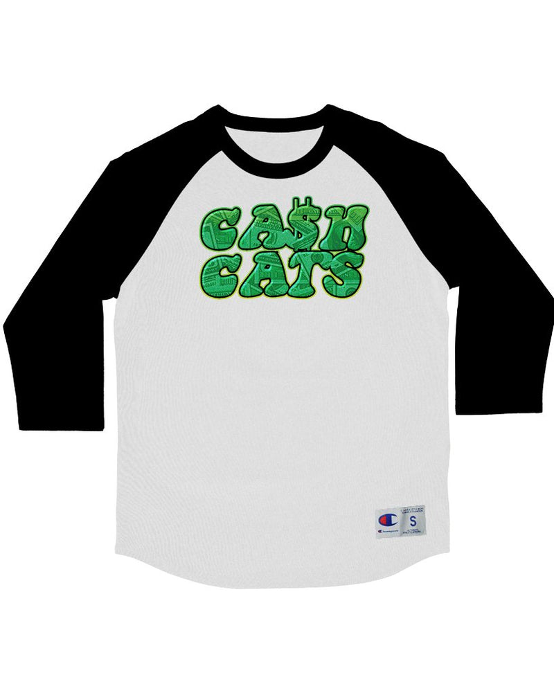 Men's | Cash Cats Money Logo | Baseball Tee