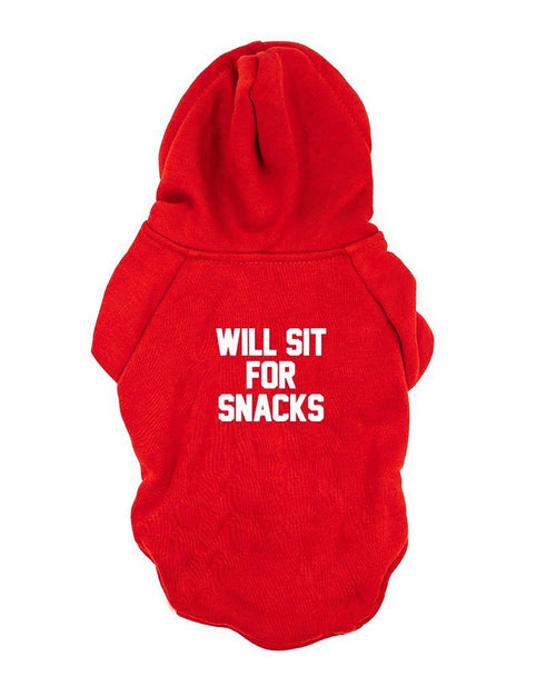 Pet | Will Sit For Snacks | Casual Hoodie