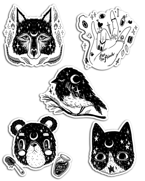 Stickers | Wiccan Series Vol.2 | Die Cut Sticker Set (5)
