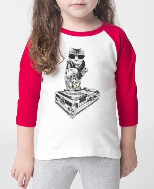 Toddler | Bruce Kittee DJ | Raglan