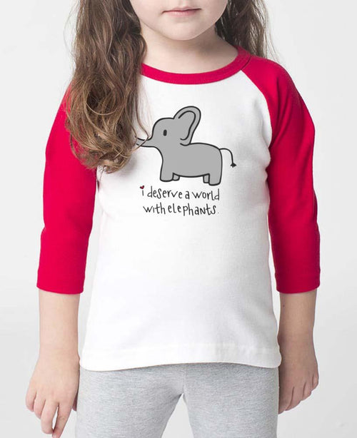 Toddler | Elephants | Raglan