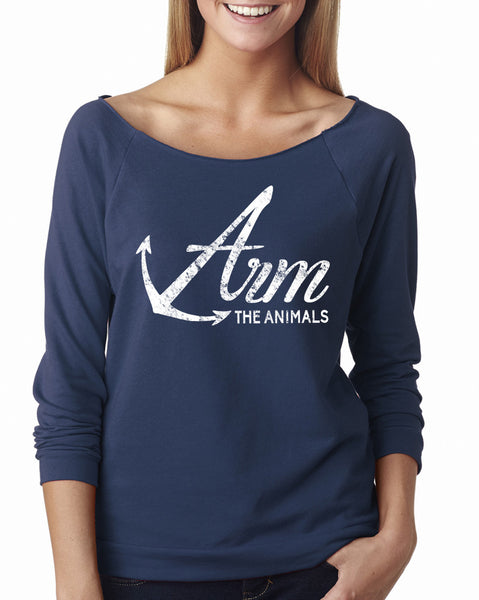 Women's | Armed Anchor | Lightweight Off The Shoulder Raw Edge