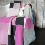 Pink and Grey Cashmere Blanket - Made to Order