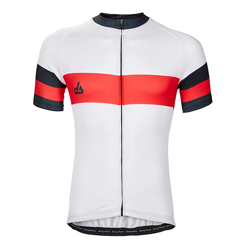 Genova Pearl Performance Jersey - Rainier Red Accents