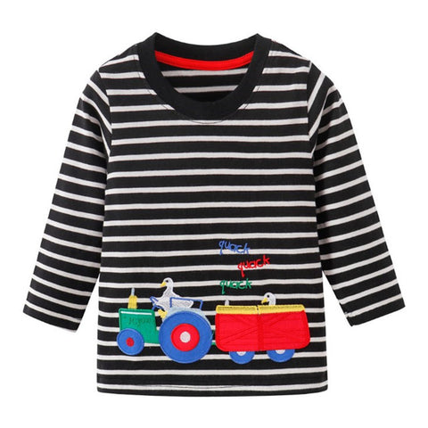 Toddler Boys Assorted Applique Long Sleeve T-Shirts
