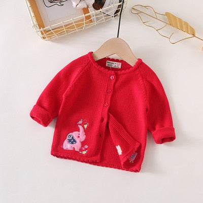 Autumn Fashion Baby Girls Clothes Children Knitted Cardigan Causal O-neck Baby Girls Sweater Cardigan Coat Toddler Clothes LZ371