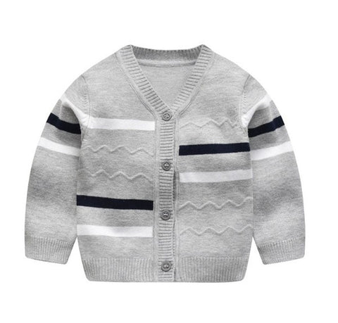 Baby sweater boy v-neck single-breasted sweater coat 0-24m