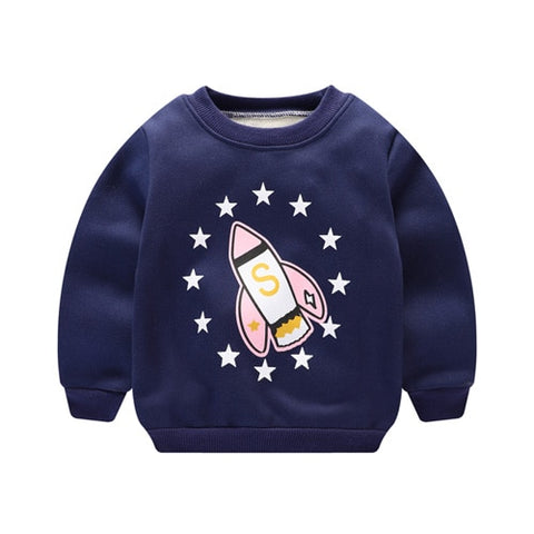 2020 Kids Clothes T Shirts For Boys Thicke T-Shirt Cartoon Children's Clothing Baby Girl Clothes Winter For Boys Girls Clothes