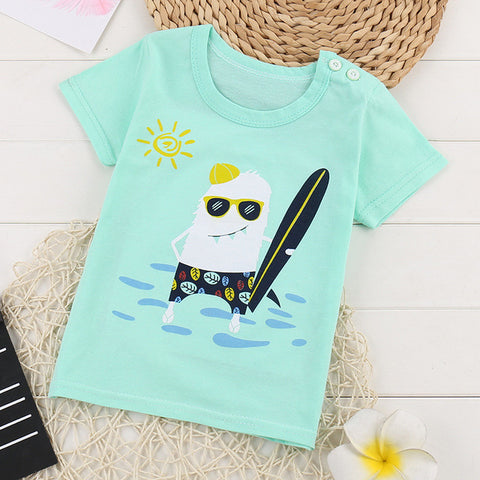 Toddler Boys Assorted Cartoon Print T-Shirts