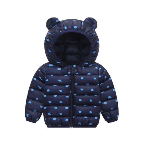 Autumn Winter Baby Coat For Kids Warm Hooded Cartoon Jackets For Baby Boys Girls Jackets Newborn coat Outerwear Infant Clothing