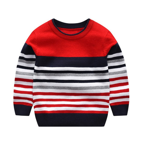 2-7Y baby boy girl sweater boys sweaters 2020 spring autumn kids sweaters children striped pullover knitted top kid clothes