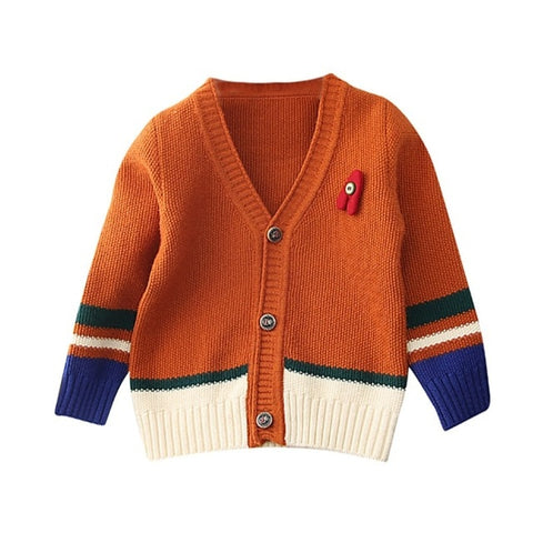 Autumn Baby Boy Sweater Cardigan Knitted Cotton Kids Casual Outerwear Coat Clothes