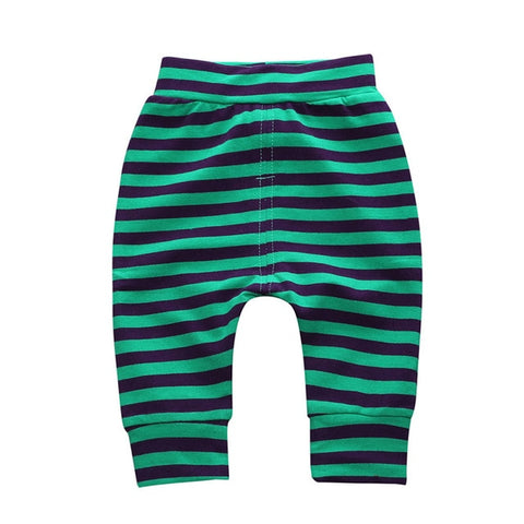 Fashion Baby Boys Girls Pants High Waisted Casual Baby Girls Long Pants Toddler Baby Clothes Harem Pants Striped Clothing Pant