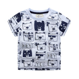 Toddler Boys Truck & Animal Print T-Shirts