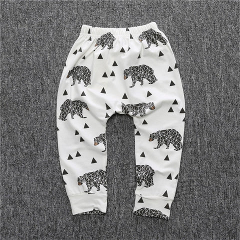 Kids Baby Boys Pants Casual Cotton Baby Trousers PP Pants Children Trousers Harem Pants Cartoon Print Newborn Girl Clothing Pant