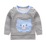 New Arrivel Striped Baby Girls Cotton Long Sleeve T-shirt 12M-8Year Autumn Children Clothing Blouse Tops Boys Long Sleeve Tops