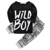Newborn Infant Toddler Baby Boy Wild Boy Casual T shirt Tops Leggings Pants 2PCS Outfits Set Clothes