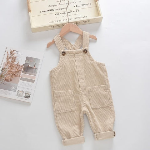 MILANCEl 2020 Kids Overalls  Baby Overalls Solid Corduroy Boys Pants Winter Overalls for Children Girls Clothing