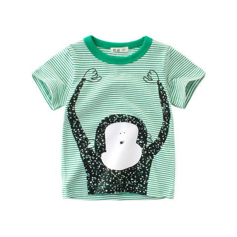 Toddler Boys Cartoon Print T-Shirts