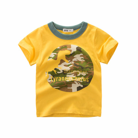 Kids Boys t shirt summer shark dinosaur animal Printed baby girl t shirt Short Sleeve child t-shirt 2 4 6 8 years