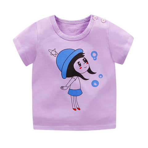 Toddler Girls Cartoon Print T-Shirts