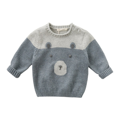 DB11784 dave bella autumn knitted sweater infant baby boys long sleeve pullover kids toddler tops children knitted sweater