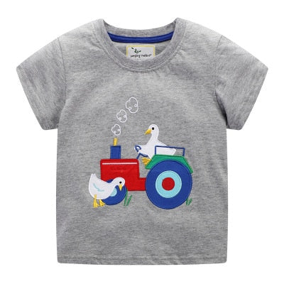 Toddler Boys Animal & Truck Print T-Shirts