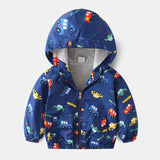 Child clothes Spring autumn new Baby Clothes Jacket Clothes Toddler Baby Boys Outerwear Cartoon Hooded Coats Jackets Tops
