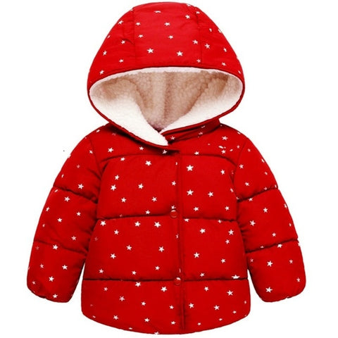 Infant Coat Baby Girls Jacket boys Autumn Winter Jacket For Girls Christmas Coat Kids Hooded Outerwear Children clothing