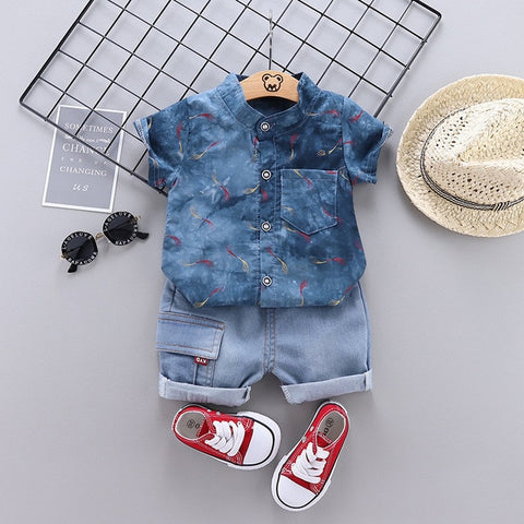 Infant Suits Baby Clothing Set for Boys Girls Fashion Summer Casual Clothes Set Cotton Top+Shorts 2pcs outfit Kids Clothes