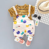 Copy of Summer Infant Clothing Set Baby Boy Clothes Sets Cute Striped Tops+ Overalls Baby Girl Outfit Newborn Set Short Sleeve