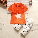 Summer Baby Boy Clothes Sets Infant Baby Casual Cartoon Cotton T-shirt+shorts 2pcs Tracksuits For Toddler Newborn Sports Outfits