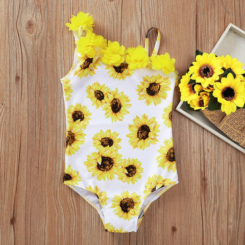 Copy of baby Swimwear Toddler Kids Baby Girls Flower Leopard print Bikini Sleeveless Swimwear Slash neck Swimsuit Bathing Suit Beachwear