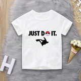 3D Movie Detective Pokemon Pikachu Tshirt For boy/girl Children T-shirt Summer Casual Anime Cartoon Tees Kid's funny pokémon