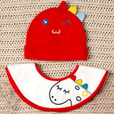 Baby Boy's/Girl's Assorted Cute Beanie 360 Degree Cotton Bib 2pc Set