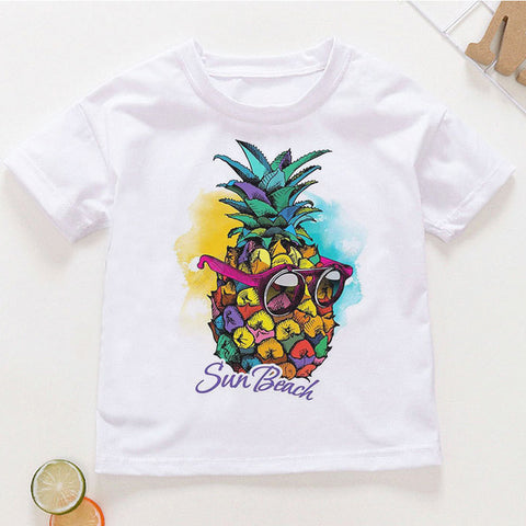 Toddler Boys Cute Cartoon Fruit Printed T-Shirts